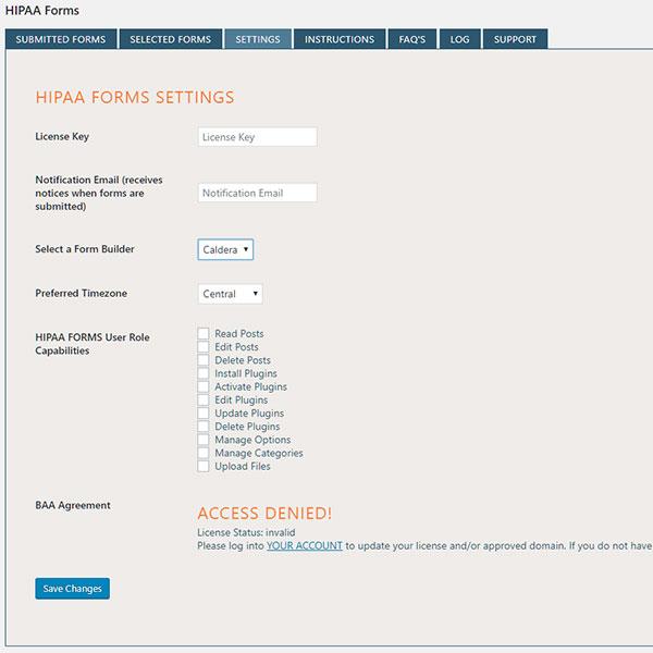 Hipaa Forms Service For Wordpress Hipaa Web Forms